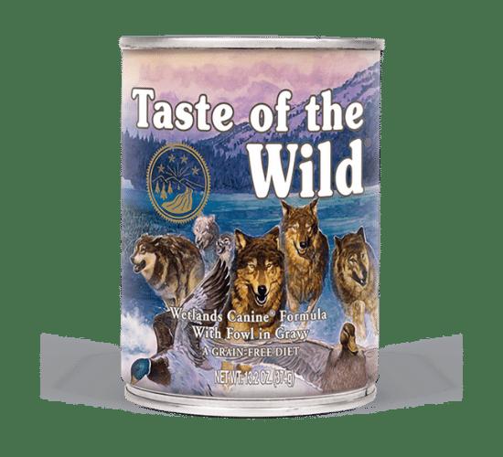 טייסט אוף דה ווילד ווטלנד לכלבים – בשר ברווז בר טרי ברוטב