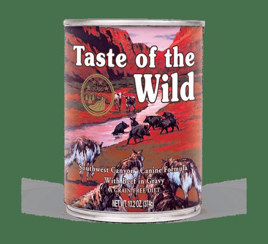 טייסט אוף דה ווילד סאוטווסט לכלבים – בשר בקר טרי ברוטב