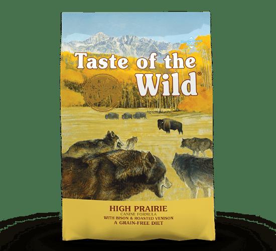 טייסט אוף דה ווילד פריירי לכלבים – בשר ביזון ואייל