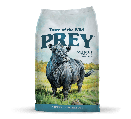 טייסט אוף דה ווילד Prey לכלבים – בשר בקר אנגוס טרי