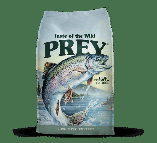 טייסט אוף דה ווילד Prey לכלבים – דג פורל טרי