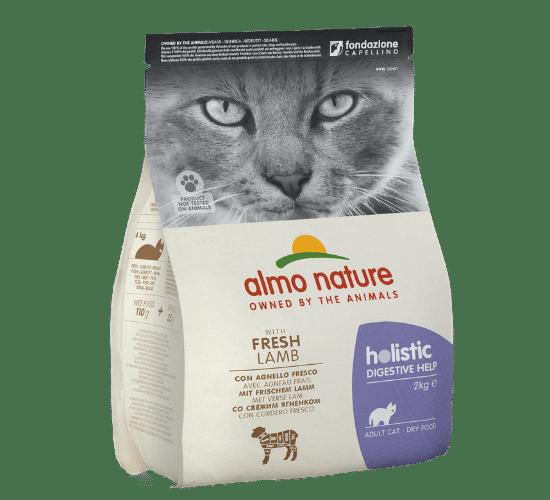אלמו נייצ'ר הוליסטיק מזון יבש לחתולים בוגרים בעלי קיבה רגישה – עם בשר כבש טרי