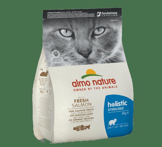 אלמו נייצ'ר הוליסטיק מזון יבש לחתולים בוגרים מסורסים או מעוקרים – דג סלמון טרי