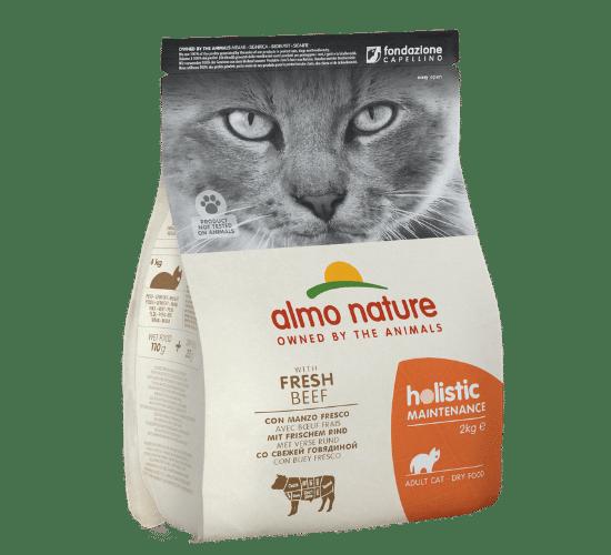 אלמו נייצ'ר הוליסטיק מזון יבש לחתולים בוגרים – עם בשר בקר טרי