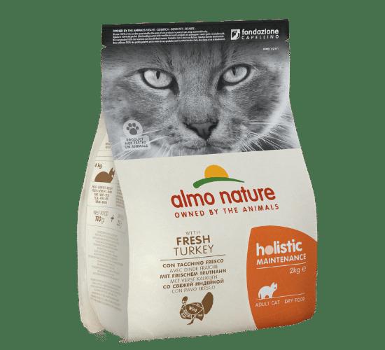 אלמו נייצ'ר הוליסטיק מזון יבש לחתולים בוגרים – עם בשר הודו טרי