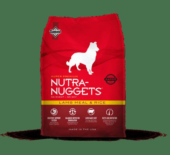 נוטרה נאגטס כבש ואורז לכלבים בוגרים